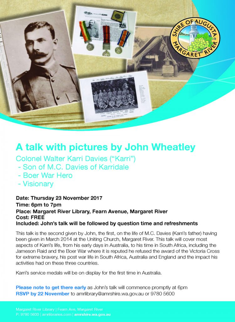 A talk with pictures by John Wheatley @ Margaret River Library