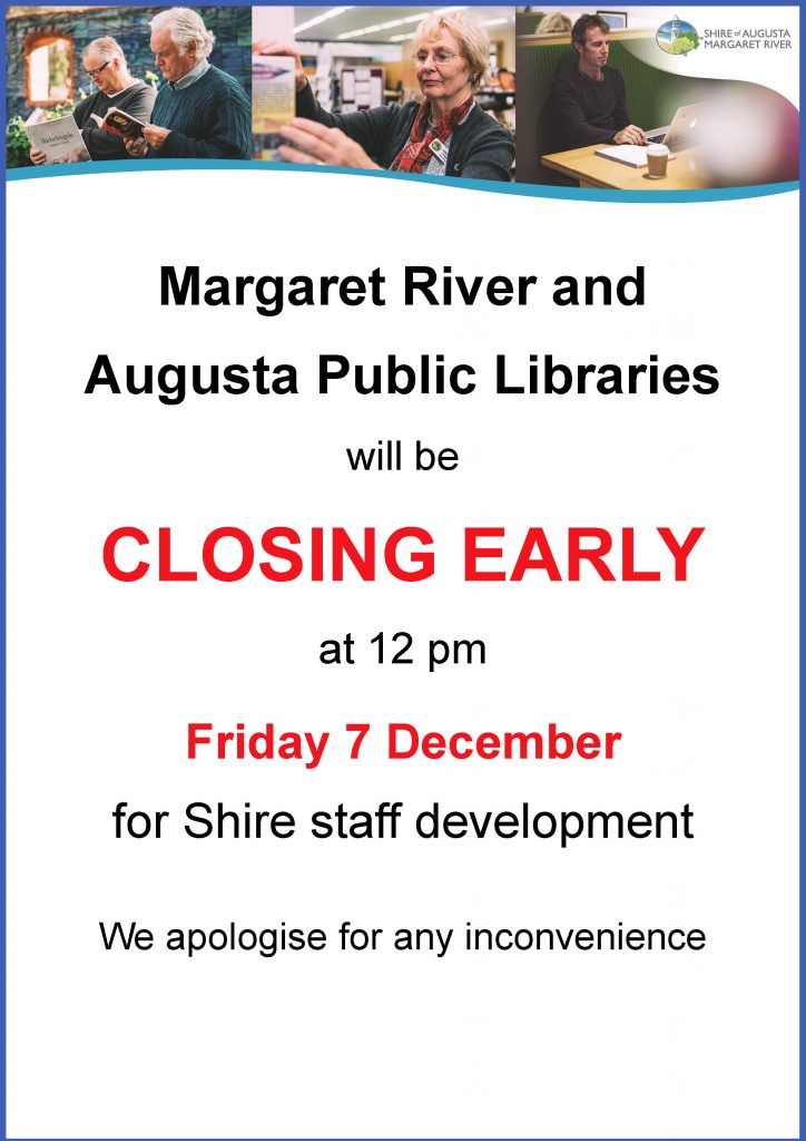 Libraries close at 12pm today for staff development