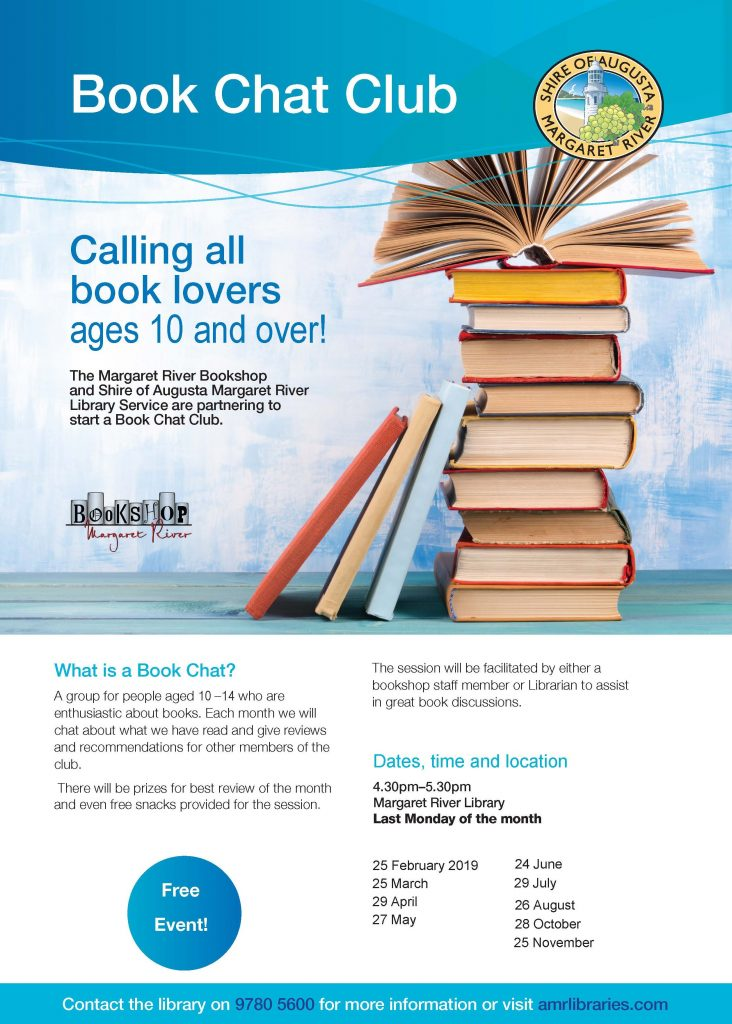 Book Chat Club for over 10's @ Margaret River Library